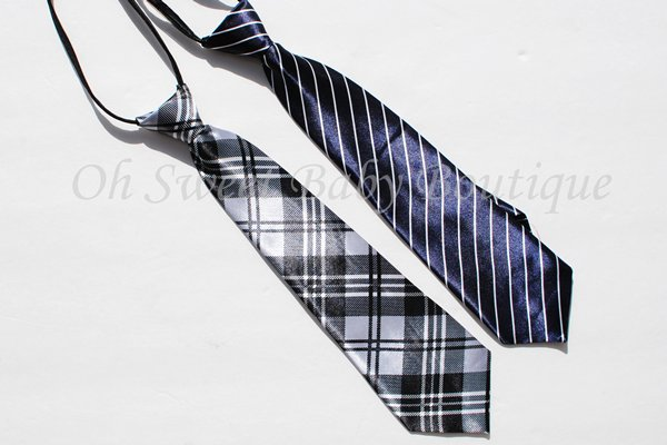 Printed Ties Zipper-