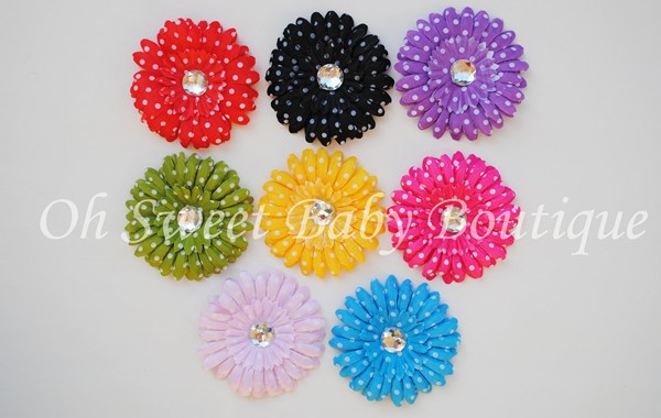 4 Polka Dot Daisies Grab Bag-