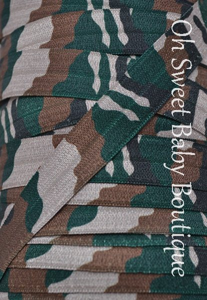 Camo FOE-camo, foe, fold, over, elastic, wholesale, roll, bulk, printed, diaper, bitsy, bands, army