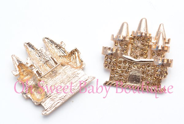 Gold Rhinestone Castle Slider-