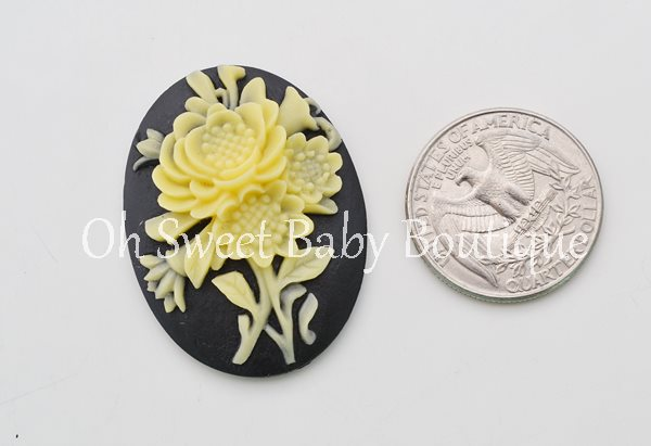Floral Cameo-
