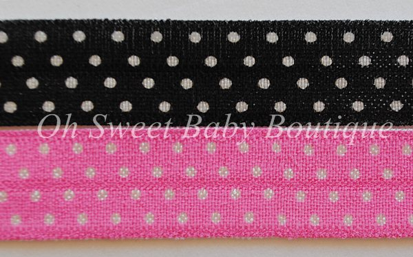 Polka Dot FOE-polka, dot, foe, fold, over, elastic, wholesale, roll, bulk, printed, diaper, bitsy, bands