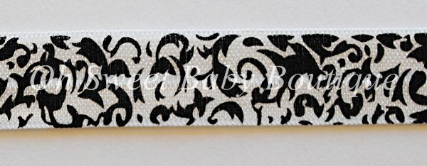 Damask Print FOE-damask, foe, fold, over, elastic, wholesale, roll, bulk, printed, diaper, baby, bands, headbands