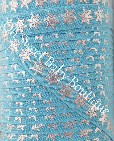 Foil Snowflake FOE Misty Turquoise-
