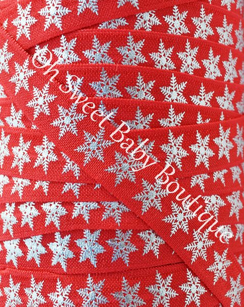Foil Snowflake FOE Red-