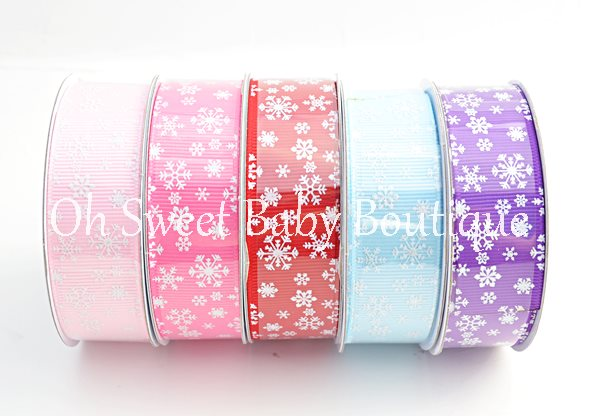 Glitter Snow Flake Ribbon-