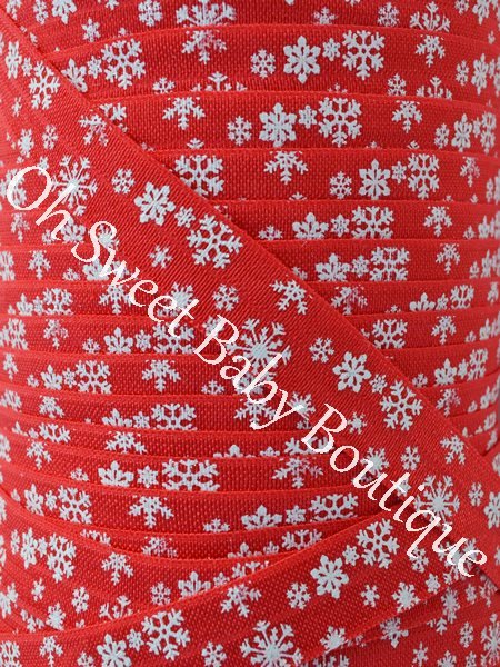 Glitter Snowflake FOE Red-