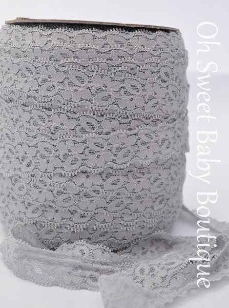 Gray Lace Elastic-