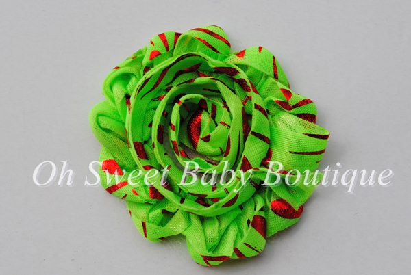 Grinchy Green/Red  Shabby Flowers-