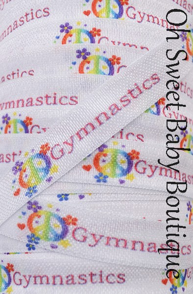 Gymnastic Fold Over Elastic-wholesale, printed, fold, over, elastic, foe, binding, hairbands, hair ties, emyjay, trendy, prints, diaper, rolls, bulk, spools, gymnastics, dance