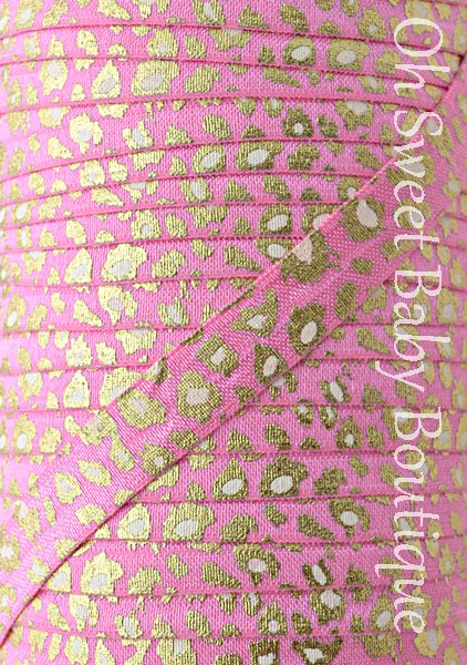 Snow Leopard Hot Pink Gold Foil FOE-
