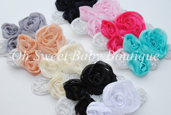 Imperial Lace Chiffon Flowers-