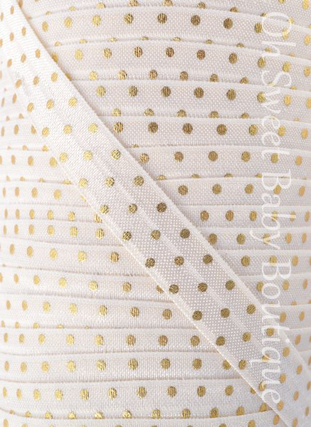 Ivory Gold Foil Dot FOE-