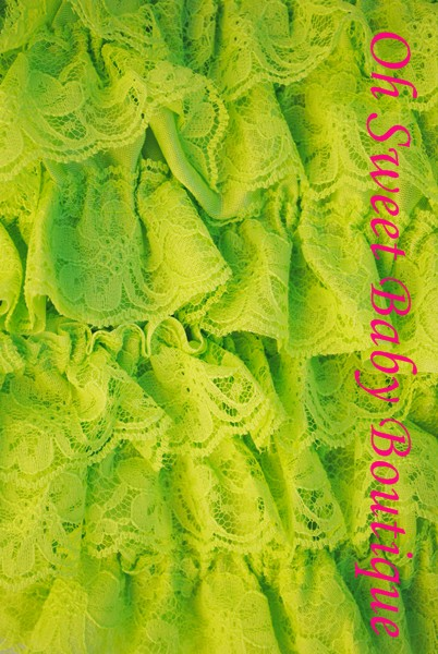 Lace Top Lime-