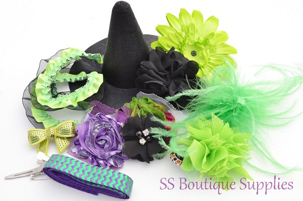 """Electric Witch Hat and Headband Kit 6""""-"""