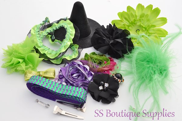 """Electric Witch Hat and Headband Kit 4""""-"""