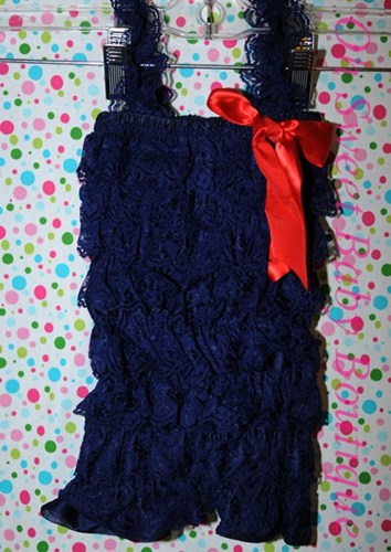 Navy with Red Bow-