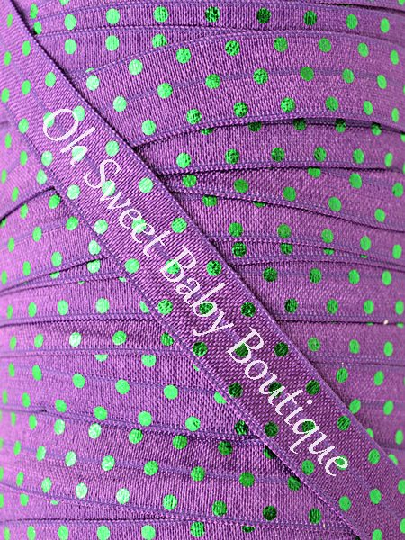Foil Polka Dot Purple Green-