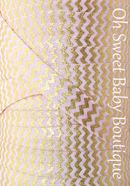 Foil Chevron Pink Gold-