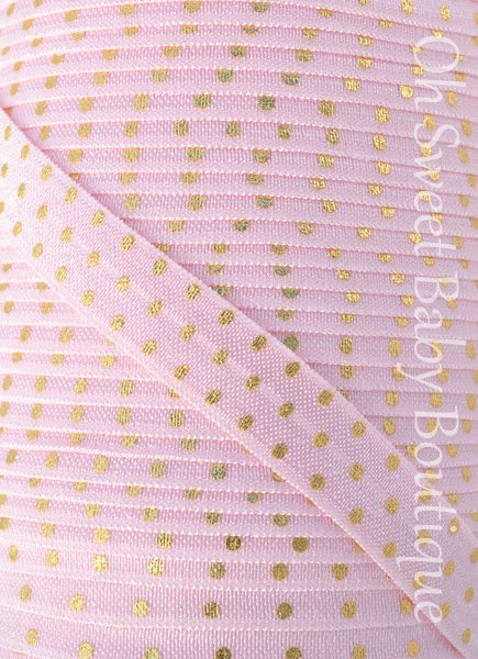 Pink Gold Foil Dot FOE-