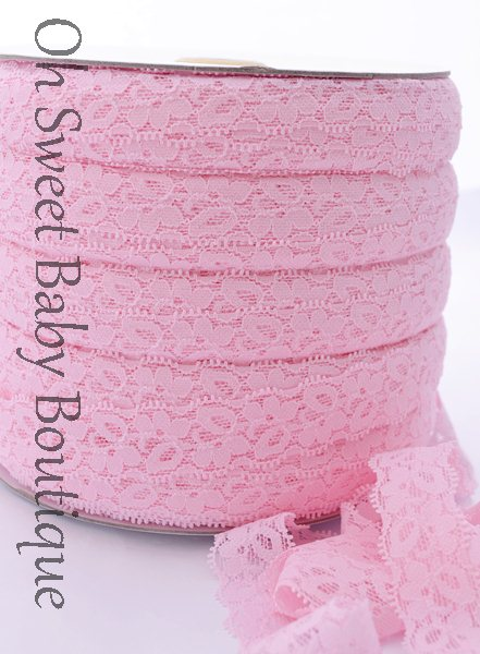 Pink Lace Elastic-