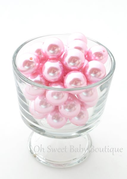 Pearl Bead 20mm Pink-