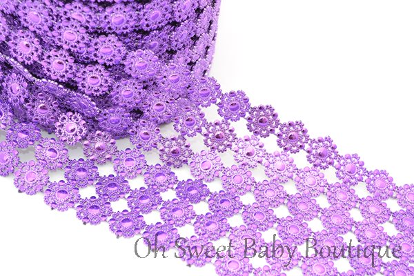 Acrylic Lace Trim Purple-
