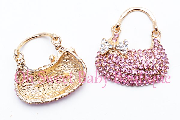 Pink Purse Rhinestone Slider-