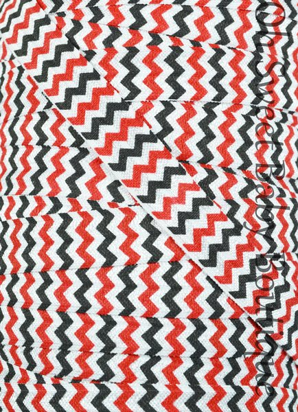 Red White and Black Chevron FOE-