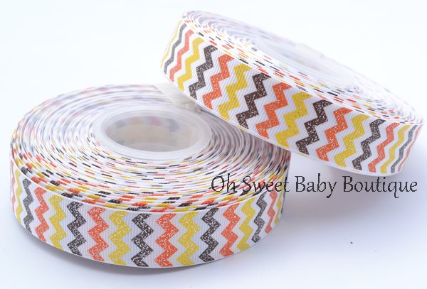 7/8 Glitter Chevron Fall-