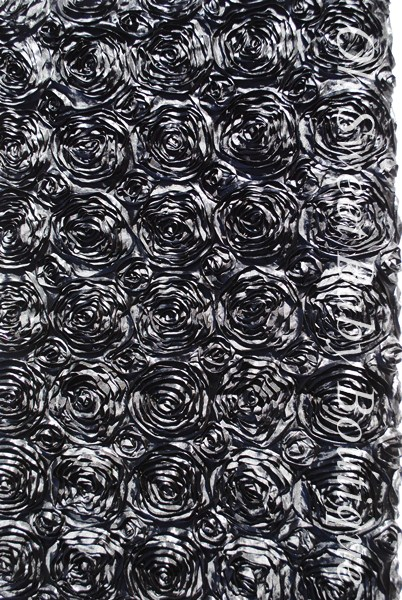 Rosette Drop Black 1 Yard-