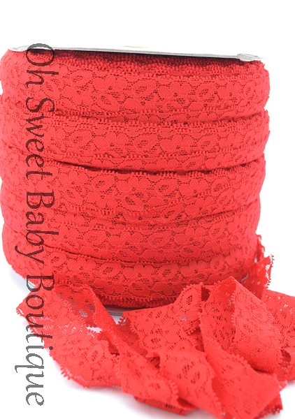Red Lace Elastic-