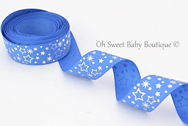 Royal Blue Foil Stars-