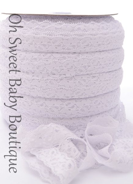 White Lace Elastic-