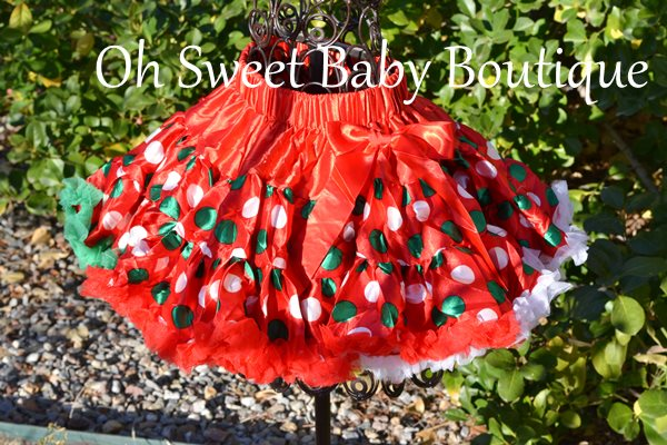Polka Dot Christmas Petti Skirt-