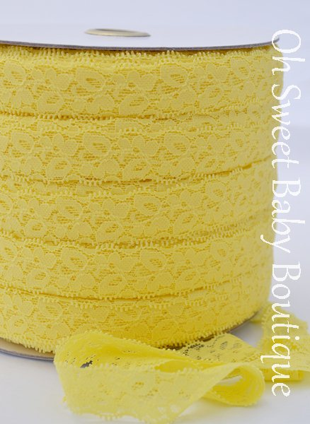 Yellow Lace Elastic-