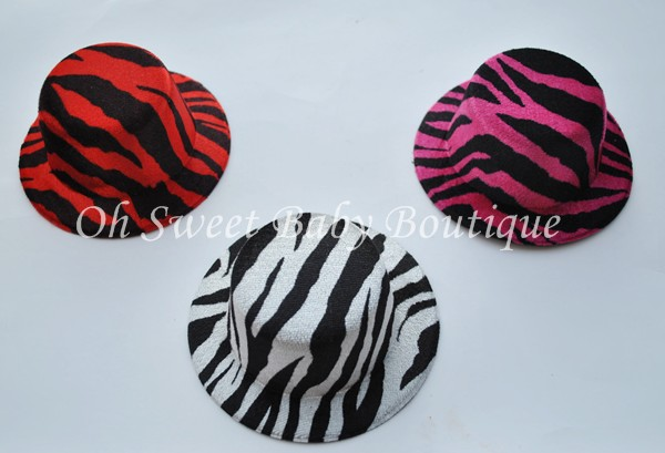 "5"" Round Zebra Top Hats-"